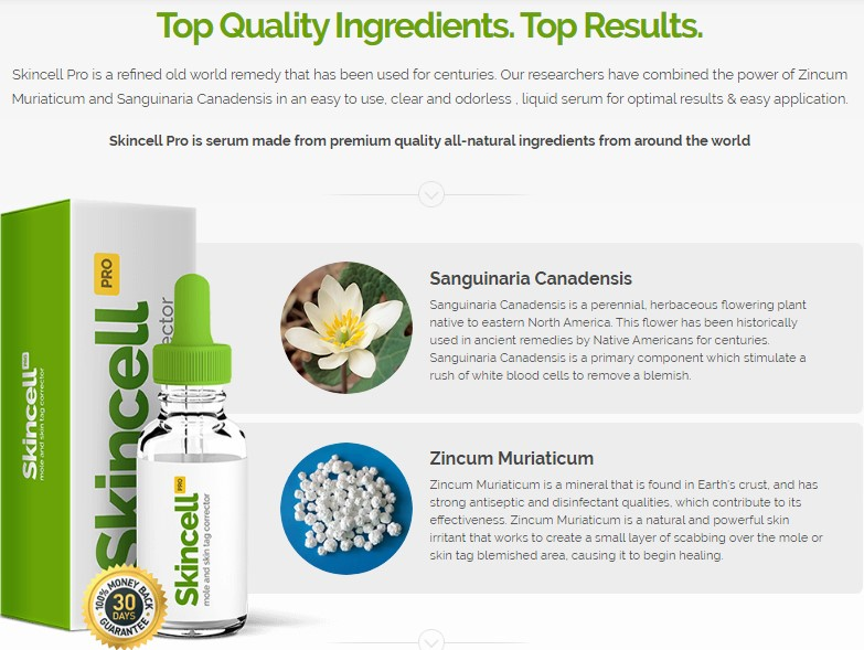 skin cell pro ingredients